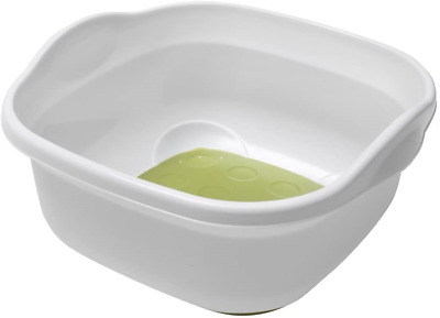Addis Soft Touch Washing Up Bowl, White/Grass Green • 4.65£