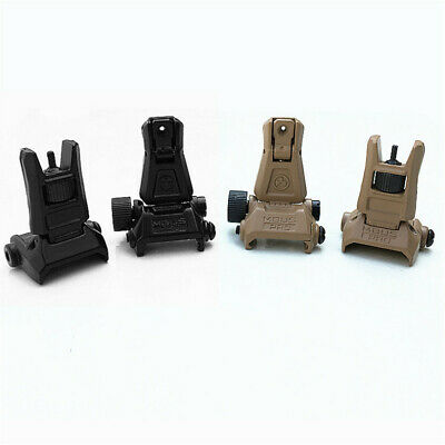 £8.65 • Buy Low Profile Flip-up Metal Tactical Sight Folding Iron Sight Front & Rear Set Toy