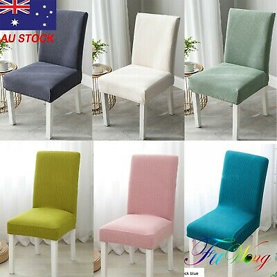 AU32.99 • Buy 1-8 PCS Dining Chair Covers Spandex Slip Cover Stretch Wedding Banquet Party