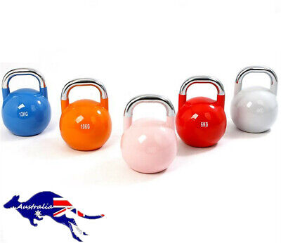 AU51.21 • Buy 8/10kg Competitive Dumbbell Fitness Lifting Pot Dumbbell All-Steel Kettlebell AU