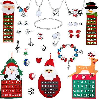 Swarovski Advent Calendar Jewellery Charm Pendant 24 Day Gifts Crystals Xmas Uk • 13.95£