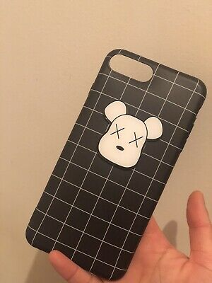 AU6.75 • Buy Apple IPhone 8 Plus Grid Pattern Silicone Case Bear Cute