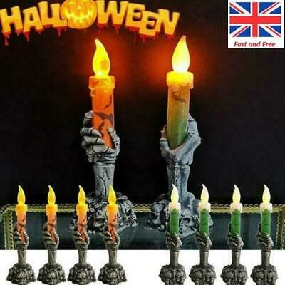 Halloween Skeleton Hand LED Lamp Candle Flame Light Stand Lamp Party Decoration • 4.99£