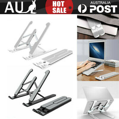 AU21.99 • Buy Folding Laptop Stand Portable Tablet Holder Bracket Adjustable Aluminum Alloy