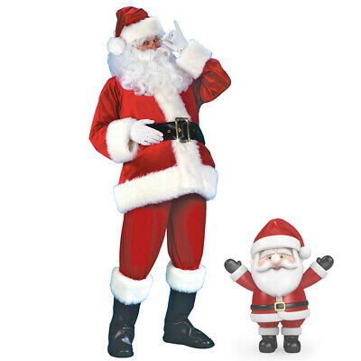 Santa Claus Costume Suit Adult Father Christmas Fancy Dress Mens Xmas Outfit UK • 6.99£