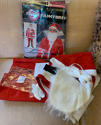 Men's Adult Father Christmas Santa Claus Costume Fancy Dress Outfit XL • 19.99£