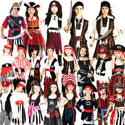 £9.49 • Buy Childs Pirate Fancy Dress Kids Book Week Halloween Party Childrens Costume New