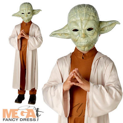 Yoda Star Wars Kids Fancy Dress Movie Character Boys Childrens Costume + Mask • 16.99£