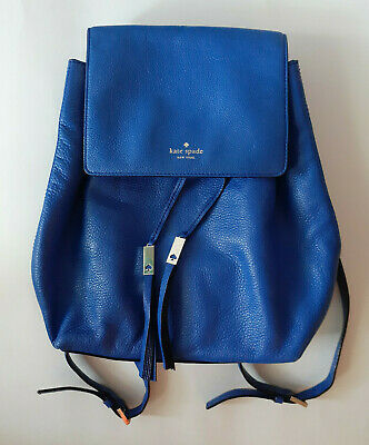 $ CDN105.46 • Buy Kate Spade New York Large Tote Handbag Purse Royal Blue Wilder Backpack Leather