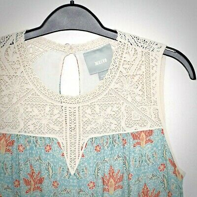 $ CDN53.61 • Buy Anthropologie Maeve Blouse XS Laced Eleanor Croquet Bodice Button Keyhole Lined