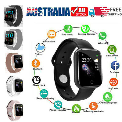 AU20.95 • Buy AU Bluetooth Smart Watch Waterproof Heart Rate Fitness Tracker For Android IOS