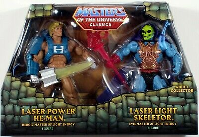 $44.99 • Buy *DAMAGED PACKAGE* Masters Of The Universe Laser Power HE-MAN & SKELETOR MOTU