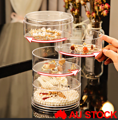 AU19 • Buy 360° Rotating Jewelry Storage Box Organizer Case Earring Necklace Box Gift