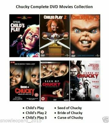 Chucky Complete Movie Collection Dvd All 6 Film Childs Play Curse Of Bride Seed • 30£