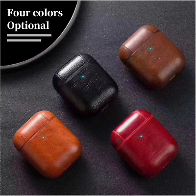 AU6.89 • Buy Leather Protective Tough Slim Cover Case For Apple AirPods 1 & 2 AU Stock