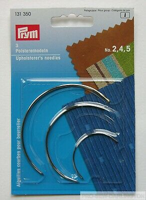 3 X PRYM CURVED UPHOLSTERERS NEEDLES ( 131350 ) • 3.49£