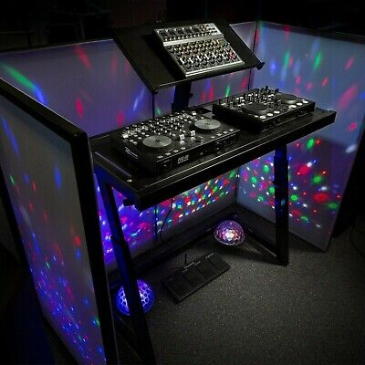 £175 • Buy The Higher Quality DJ Booth Deck Stand Turntable Mixer Laptop DJ Equipment Desk