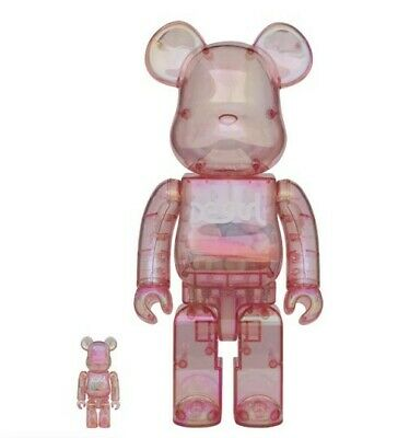 $1250 • Buy X-Girl Bearbrick 400% And 100% Pink Rainbow