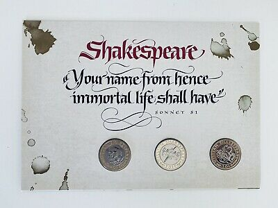 2016 Shakespeare Set £2 Coins Two Pound BU Stamp Cover FDC PNC Royal Mint • 47.80£