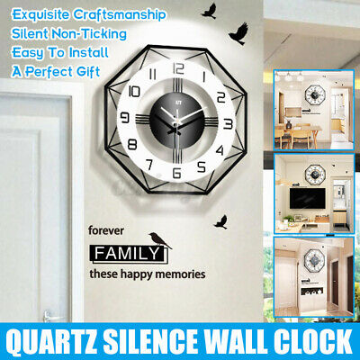 AU29.99 • Buy Nordic Fashion Wall Clock Quartz Silence Modern Decor For Hotel Home Office