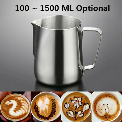 £7.31 • Buy Metal Milk Frothing Jug Cafe Coffee Mug Frother Latte Scale Pitchers Foam Cup UK