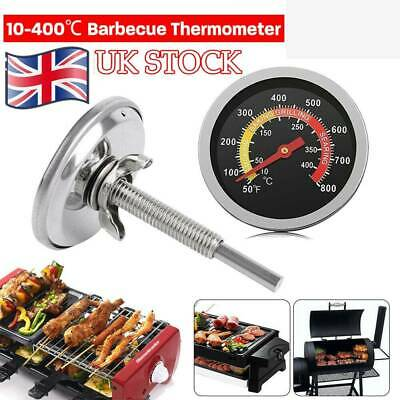 100~400℃ Barbecue Thermometer Oven Pit Temp Gauge BBQ Smoker Grill Temperature • 4.99£