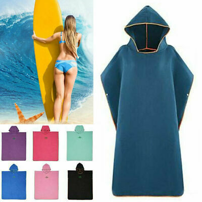 Quick Dry Hooded Beach Changing Robe Poncho Surf Swimming Poncho Light Towel • 16.59£