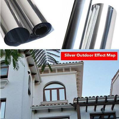 Mirror Reflective Silve Window Film One Way Privacy Sticky Anti UV Window Film  • 9.29£