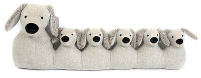71Cm Grey Dog Draught Excluder ~ Door Draught Cushion • 21.99£