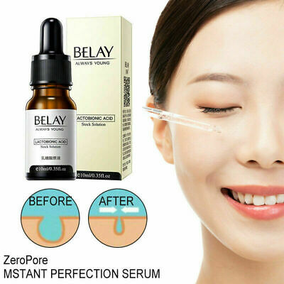Facial Lactobionic Acid Essence Zero Pore Soften Anti-Aging Wrinkle Pores Skin • 3.66£