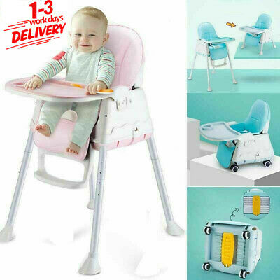 £28.69 • Buy 3-In-1 Adjustable Baby Highchair Foldable High Chair Recline Infant Feeding Seat