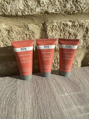 REN Perfect Canvas Clean Jelly Oil Cleanser 3x 15ml BRAND NEW & SEALED • 10.50£
