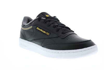 AU70.99 • Buy Reebok Club C 85 FW7787 Mens Black Leather Lace Up Lifestyle Sneakers Shoes
