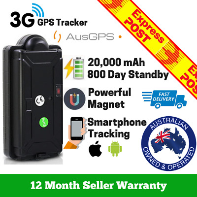 AU171.95 • Buy 4G Car GPS Tracker | Wireless 24/7 Real-Time Tracking | Large 20,000 MAh Battery