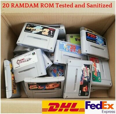 $ CDN85.68 • Buy WHOLESALE RANDOM Super Famicom Game SNES Lot 20 ROMs Set JAPAN SFC NTSC-J W/T
