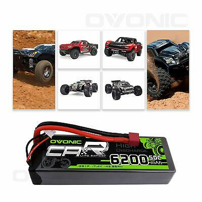 $ CDN39.99 • Buy Ovonic 50C 6200mAh 7.4V 2S Lipo Battery Deans Plug For 1/8 1/10 Car Truck Buggy