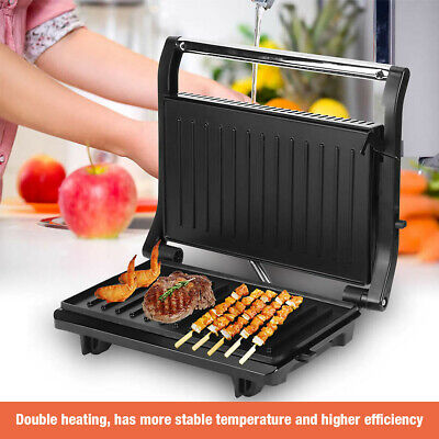 £22.39 • Buy Fold-Out Sandwich Toaster Panini Press Health Grill 750W Non Stick Compact Size