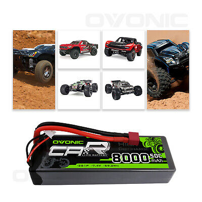 $ CDN49.79 • Buy OVONIC 8000mAh 7.4V 50C 2S LiPo Battery Deans Plug For Car Truck Crawler Truggy