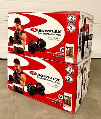 $ CDN906.70 • Buy 🔥 NEW Bowflex SelectTech 552 Adjustable Dumbbells Weight PAIR FAST SHIPPING! 🔥