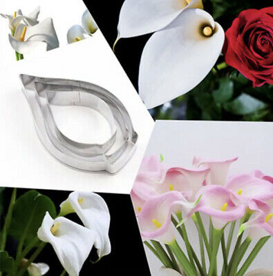 Calla Lily Flower Cutter Mold Cake Fondant Decorating Tool • 4£