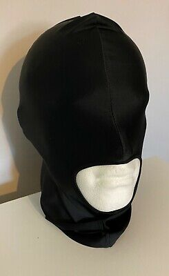 £4.99 • Buy UK Black Spandex Stretchy Gimp Mask 1 Hole Face Hood - Stag And Hen Night Party
