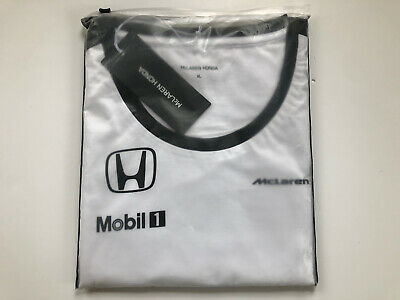 Official Genuine Female Mclaren F1 White T Shirt - BNIB Sealed Mobil 1 XL Size • 9.99£