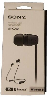 Sony WI-C200 In-Ear Wireless Headphones - Black - Bluetooth.  Up To 15h. • 12.50£