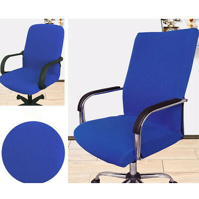 AU37.90 • Buy Stretchable Slipcovers Office Chair Cover Stripe Jacquard Computer Seat Rotating