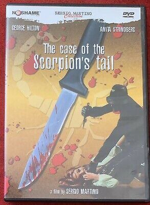 THE CASE OF THE SCORPIONS TAIL Sergio Martino Giallo NoShame DVD W/Booklet OOP • 9.97£