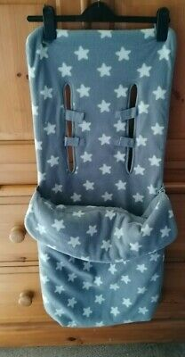 £20 • Buy Mothercare Footmuff In Grey With White Stars Free Postage