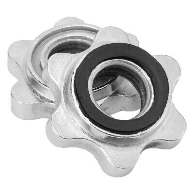 $ CDN16.27 • Buy 2pcs Barbell Spin-Lock Collars Screw Clamp Dumbell Weight Lifting Hex Nuts