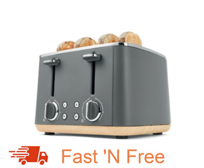 AU94.99 • Buy New 4 Slice Toaster Grey Different Functions Easy Cleaning Free Shipping