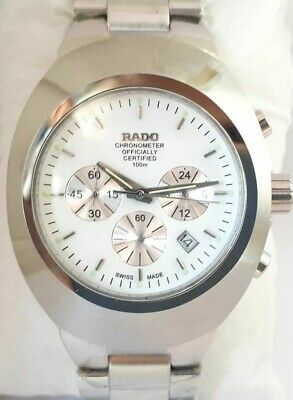 $ CDN170.47 • Buy Vintage Rado Diastar Chronograph 36mm Quartz White Dial Men's Wrist Watch