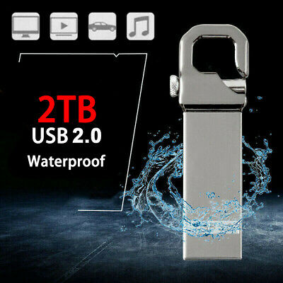 $ CDN6.58 • Buy Metal USB 3.0 Flash Drive 2TB Memory Stick Pen Drive U Disk For PC Laptop Sliver
